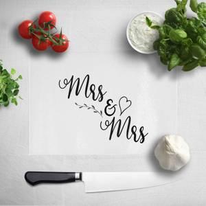 Mrs & Mrs Chopping Board