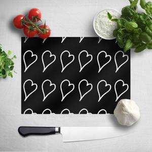 Scribbled Hearts Chopping Board