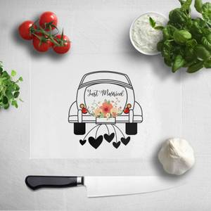 Just Married Car Chopping Board