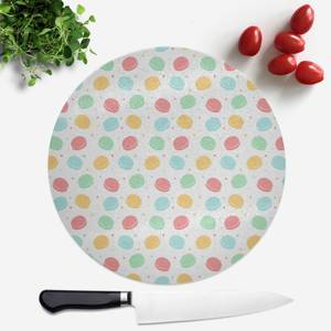 Macaron Party Round Chopping Board