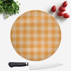 Baking Blanket Orange Round Chopping Board