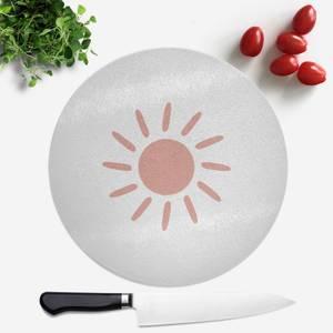 Sun Round Chopping Board