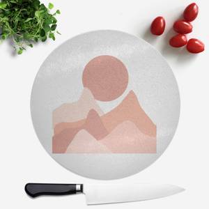 Hills And Moon Round Chopping Board