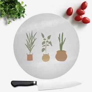 Plants Round Chopping Board