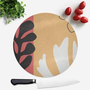 Abstract Warm Leaves Round Chopping Board