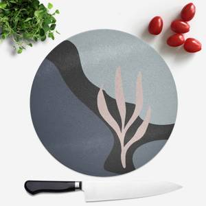 Rocks And Trees Round Chopping Board
