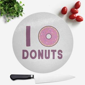 I Heart Donuts Round Chopping Board