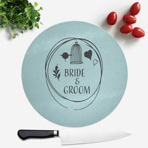 Bride And Groom Round Chopping Board