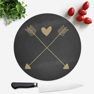 Hearts And Arrows Round Chopping Board
