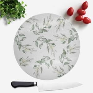 Leaves Round Chopping Board