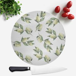 Printed Flowers Round Chopping Board