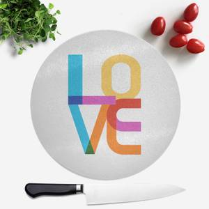 Colourful Love Round Chopping Board