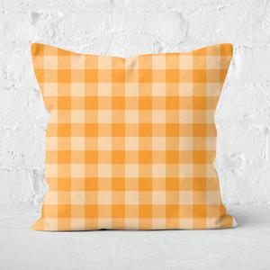 Baking Blanket Orange Square Cushion