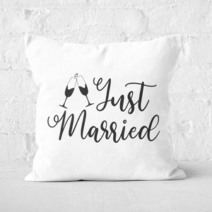 Just Married Signature Square Cushion