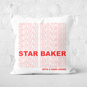Star Baker With A Hand Shake Square Cushion
