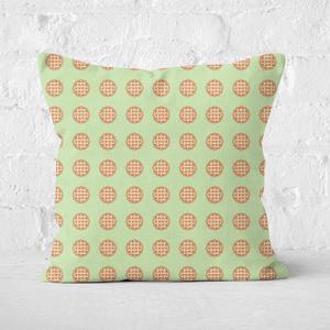 Pie Pattern Square Cushion