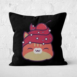 Cupcake Cat Square Cushion
