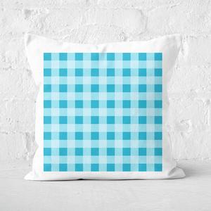 Baking Blanket Blue Square Cushion
