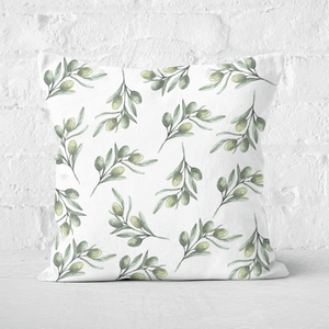 Olive Branch Square Cushion