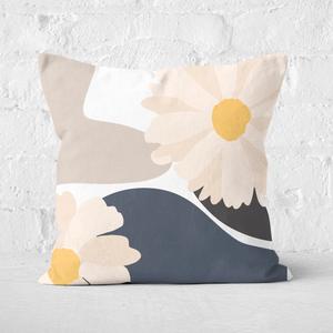 Abstract Daisies Square Cushion