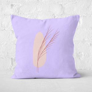 Abstract Leaf Square Cushion