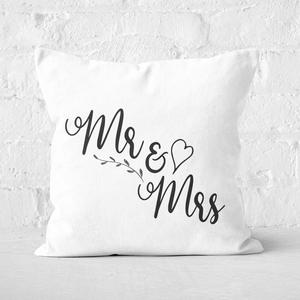 Mr & Mrs Square Cushion