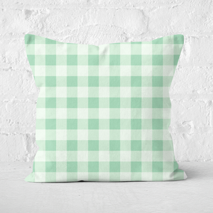 Baking Blanket Green Square Cushion