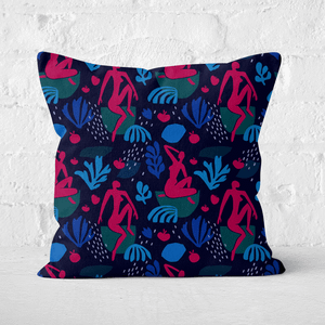 Silhouete And Leaves Square Cushion