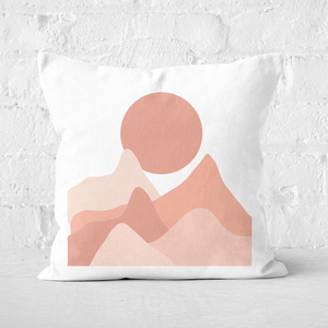 Hills And Moon Square Cushion