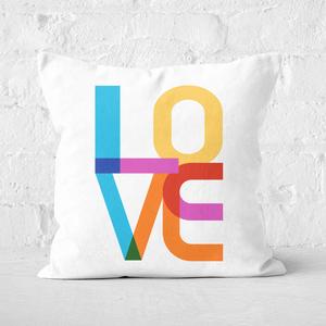 Colourful Love Square Cushion