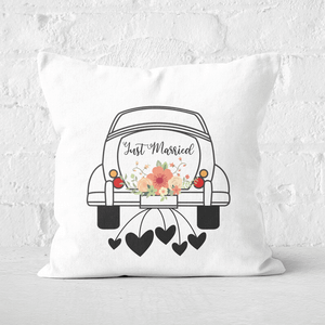Just Married Car Square Cushion