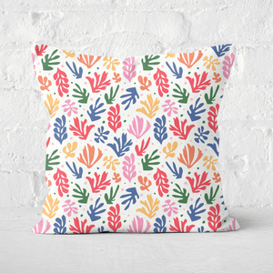 Rainbow Leaves Square Cushion