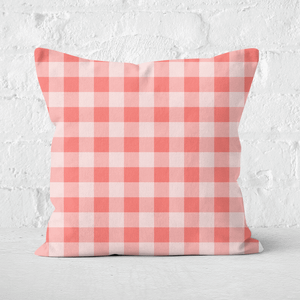 Baking Blanket Red Square Cushion