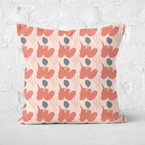 Small Abstract Leaves Square Cushion