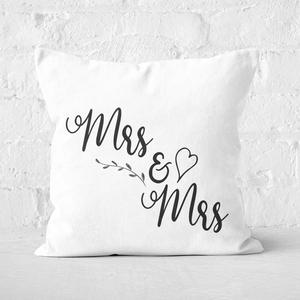 Mrs & Mrs Square Cushion