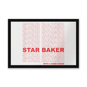 Star Baker With A Hand Shake Entrance Mat