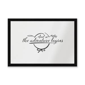 And So The Adventure Begins Entrance Mat