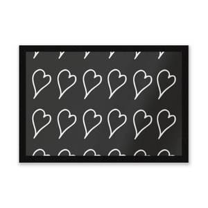Scribbled Hearts Entrance Mat
