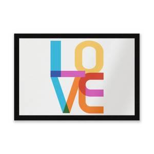 Colourful Love Entrance Mat