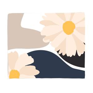 Abstract Daisies Fleece Blanket
