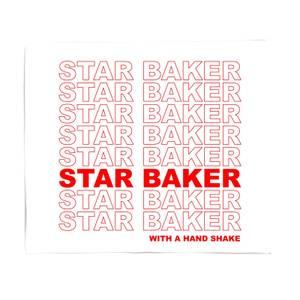 Star Baker With A Hand Shake Fleece Blanket