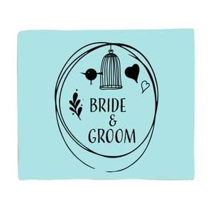 Bride And Groom Fleece Blanket