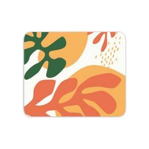 Mid Warm Leaf Pattern Mouse Mat