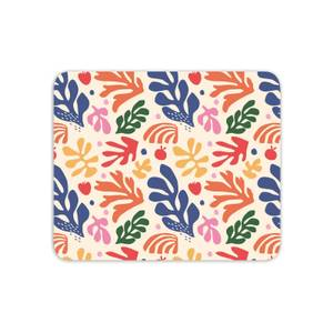 Nude Rainbow Leaves Mouse Mat