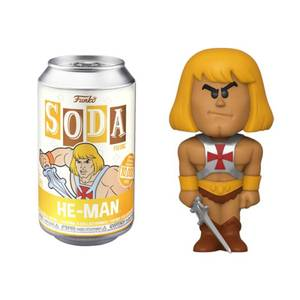 Masters Of The Universe He-Man Vinyl Soda Figure in Collector Can