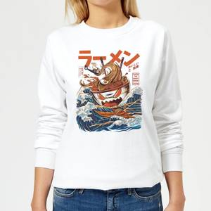 Ilustrata The Great Ramen Off Women's Sweatshirt - White
