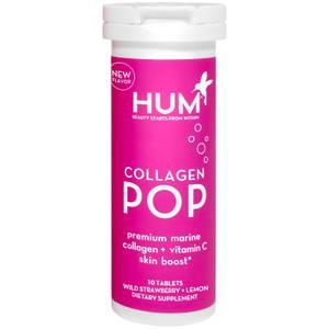 HUM Nutrition Collagen POP Premium Marine Collagen + Vitamin C Skin Boost (10 Dissolvable Tablets)