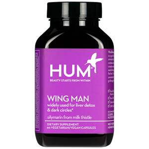HUM Nutrition Wing Man Liver Detox Supplement (60 Vegan Capsules, 30 Days)