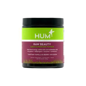 HUM Nutrition Raw Beauty Green Superfood Powder Tahitian Vanilla Berry Infusion 8.5oz