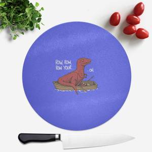 Row Row Row Your Boat Round Chopping Board